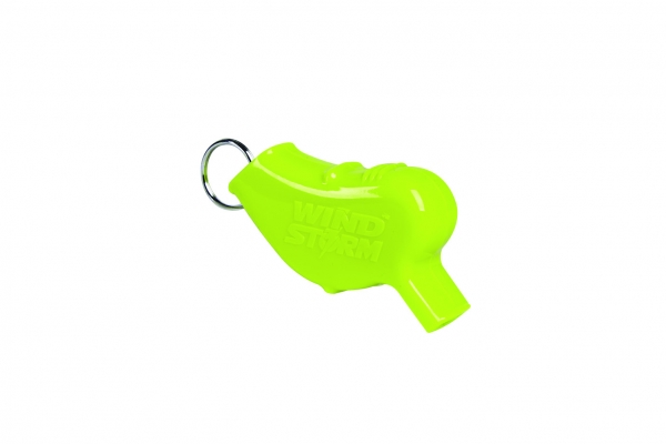 INNOVATIVE SCUBA CONCEPTS WIND STORM WHISTLE This bright-yellow noisemaker (and its cousin, the Storm) can be heard up to a half- mile away. What's more, the Wind Storm is inconspicuous, clipping easily to a BC D-ring, making this the quintessential backup safety device. Price: $7-$10; innovativescuba.com